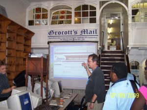Simon demonstrates Nika to the delegates
